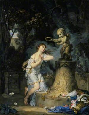 Votive Offering to Cupid (L'offrande à l'amour; Une jeune fille qui fait sa prière au pied de l'autel de l'amour)
