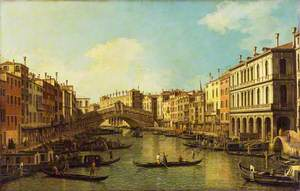 Venice: the Grand Canal from the Palazzo Dolfin-Manin to the Rialto Bridge