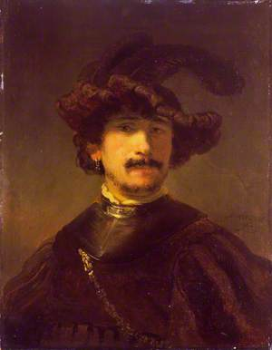 An Officer in a Plumed Hat