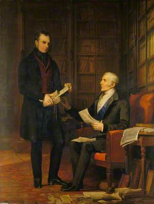 The Duke of Wellington with Colonel Gurwood at Apsley House