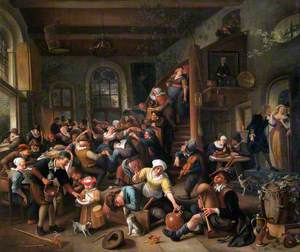 The Egg Dance: Peasants Merrymaking in an Inn