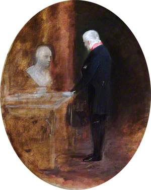 The 1st Duke of Wellington Looking at a Bust of Napoleon