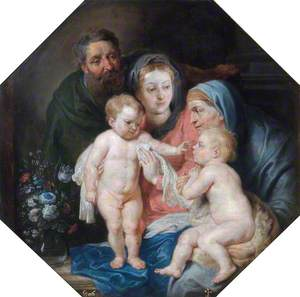The Holy Family with Saint Elizabeth and the Infant Saint John