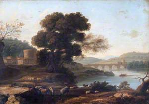 Pastoral Landscape with the Ponte Molle, Rome