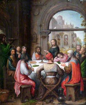 The Last Supper with the Institution of the Eucharist and Christ Washing the Disciples' Feet