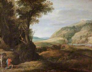 Landscape with Saint Eustace and the Stag