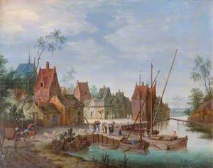 A Flemish Village: The River Landing Stage