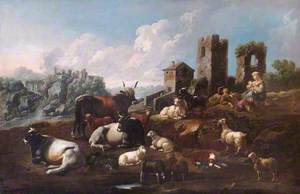 Shepherd and Cattle