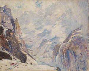 Mountain Landscape: Study for 'Wengen Heights'