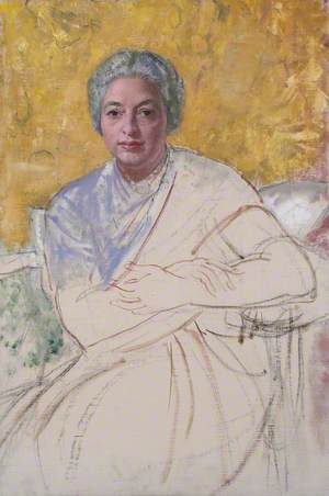 Unfinished Portrait Vijayalakshmi Pandit
