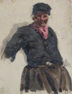Sketch of a Man Wearing Dutch Costume (Volendam)