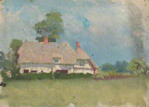 Study of a White Thatched Cottage