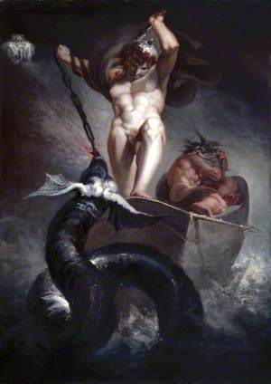 Thor Battering the Midgard Serpent