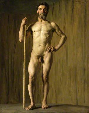 Academic Study of a Male Nude