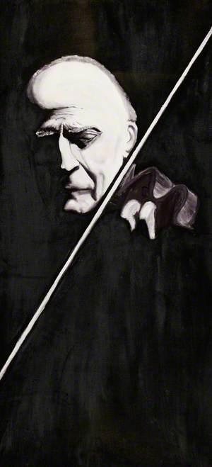 Yehudi Menuhin Holding a Violin