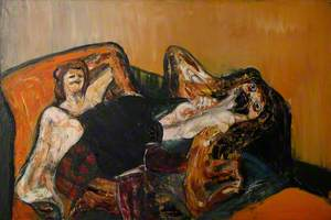 Two Figures on a Bed