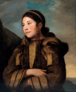 Portrait of Caubvick, an Inuit woman from Labrador