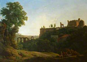 Italian Landscape with Figures and Ruins