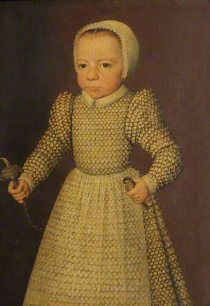 Portrait of an Unknown Child with Rattle