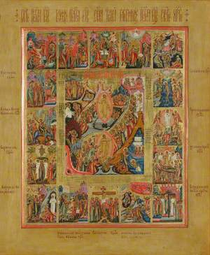 Icon with the Anastasis (Resurrection of Christ)