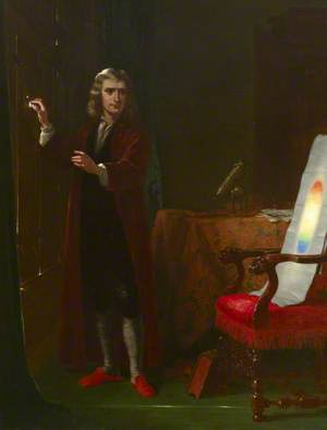 Newton Investigating Light