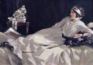 Reclining Lady in White