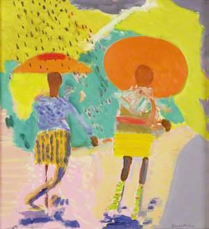 Black Girls Walking in a Sunny Shower, Washington
