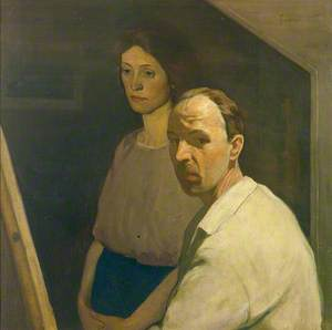 Self Portrait with Artist's First Wife, Nancy