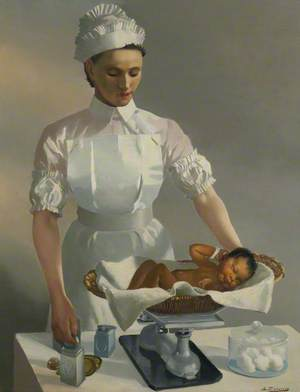 Nursing Sister and Baby