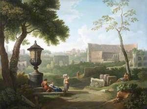 Capriccio View of the Colosseum and the Arch of Septimus Severus, Rome