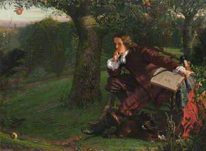 Master Isaac Newton in His Garden at Woolsthorpe, in the Autumn of 1665