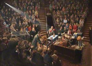Sir Lawrence Bragg Giving the 1961 Christmas Lectures in the Royal Institution Theatre