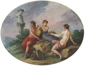 Pan Celebrating the Feast of Bacchus