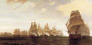 Sea Battle between a French Squadron and Ships of the East India Company