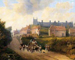 East Grinstead from the Lewes Old Road, West Sussex