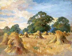 Landscape with Stooks