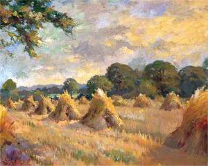 Field with Stooks
