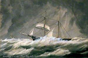 'Light of the Age' at Sea, Rough Weather