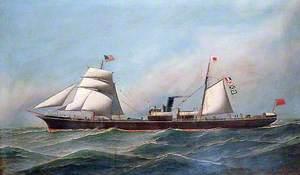'Hector' Ship at Sea