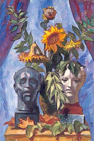 Untitled (Still Life of Sunflowers with Two Heads)