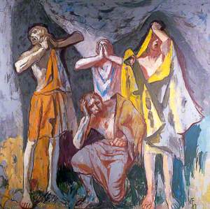 The Grey Cloud (Four Mourning Figures in a Crucifixion Scene)