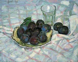 Plums on a Dish