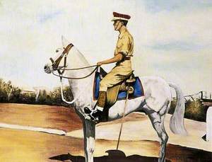 Lieutenant Colonel Frank Baggley on a Horse