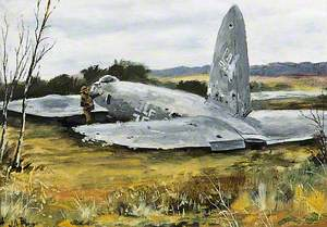 'Heinkel' Shot Down on High Salvington, August 1940