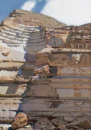 Sunlit Cliff, Arabian Desert
