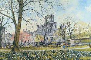 Kirkstall Abbey in Spring