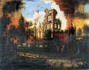 Kirkstall Abbey in 1774