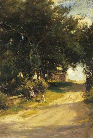A Lane near Tanfield, July