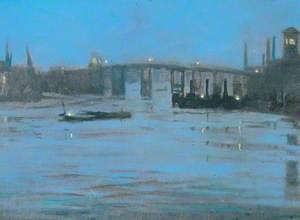 Nocturne, Battersea Old Bridge, London