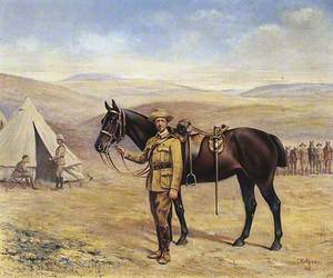 Colonel R. F. T. Gascoigne (1851–1937), with His Horse during the South African Campaign